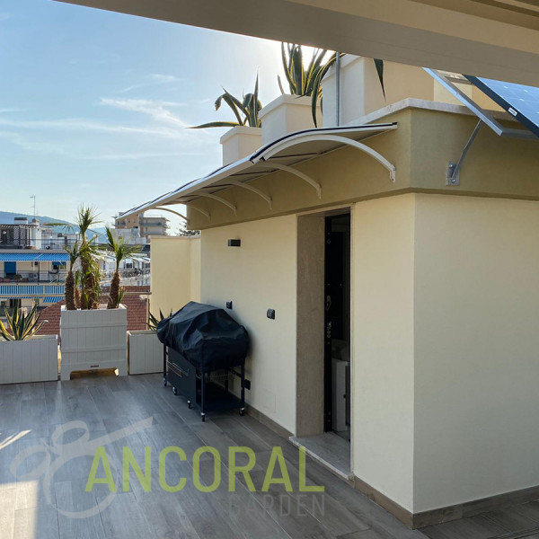 pensilina esterna alluminio ancoral garden